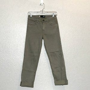 Kut from the Kloth Green Amy Crop Straight Jeans
